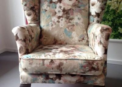 fotel kwiaty