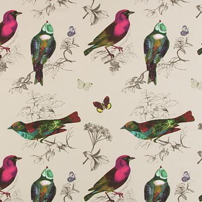 tkanina ptaszki jasne