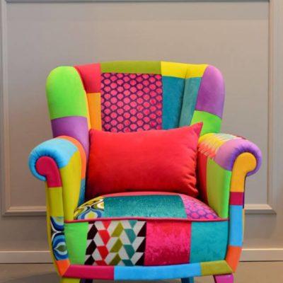 fotel patchwork lirka