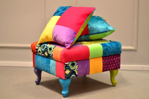 chairs and pouffes, Juicy Colors, patchwork, furniture