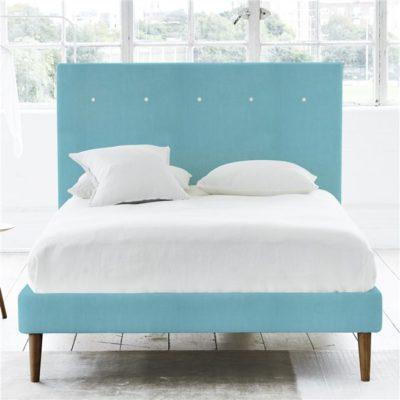 łóżko scandi niebieskie